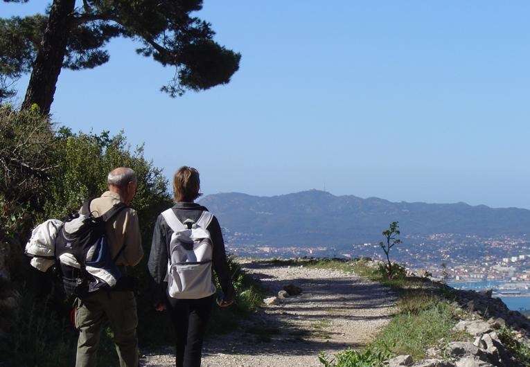 randonnée sur le mont Faron à Toulon