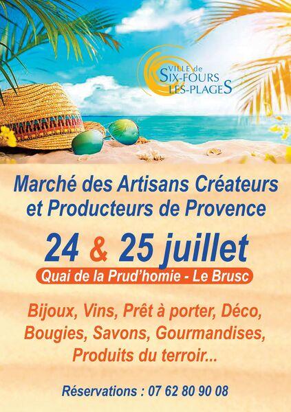 Marché des artisans créateurs et producteurs de Provence à Six-Fours-les-Plages - 0