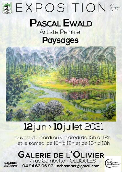 Exposition «Paysages» de l'artiste peintre Pascal Ewald à Ollioules - 0