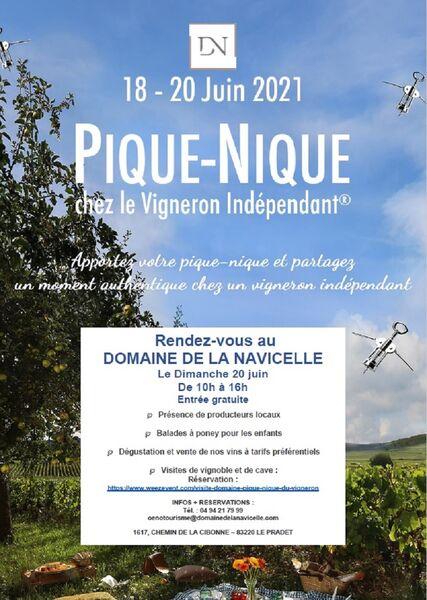 Journée Pique Nique du Vigneron au Domaine de la Navicelle à Le Pradet - 0