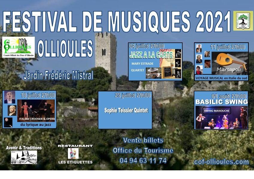 Festival de musique : Sophie Teissier 5tet à Ollioules - 0