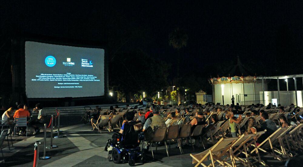 Cinéma plein air à Hyères - 1