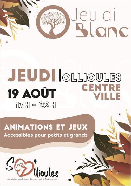 Jeu di Blanc : animations et jeux à Ollioules - 0