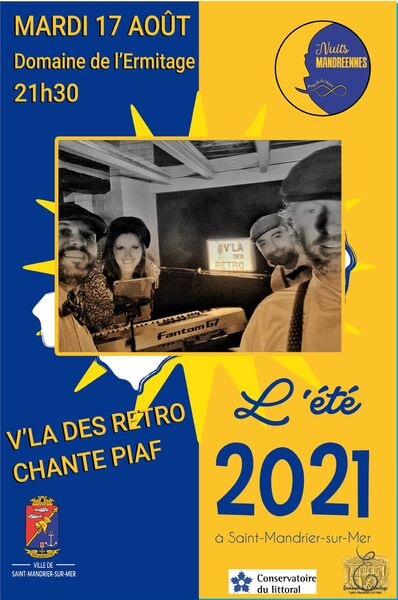 Concert V'là des Rétro chante Piaf à Saint-Mandrier-sur-Mer - 0