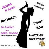 Concert de Nathalie au Beer Mamba