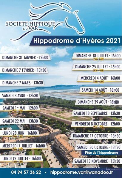 Courses hippiques à l'hippodrome d'Hyères à Hyères - 1