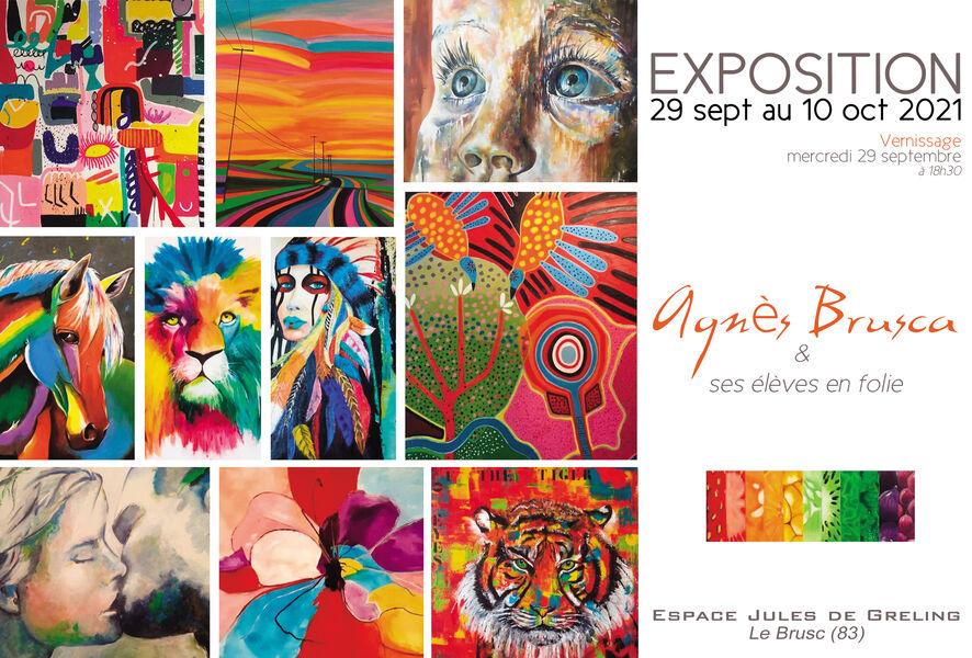 Exposition : Agnès Brusca & ses élèves en folie à Six-Fours-les-Plages - 0