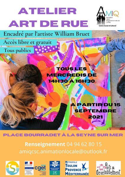 Atelier Art de Rue tout public à La Seyne-sur-Mer - 0