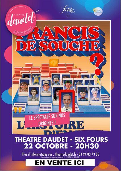 Spectacle «Francis de Souche» par Vincent Azé à Six-Fours-les-Plages - 0
