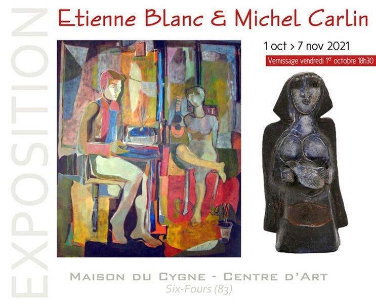Rétrospective Etienne Blanc et Michel Carlin (peintures, encres et volumes) à Six-Fours-les-Plages - 0