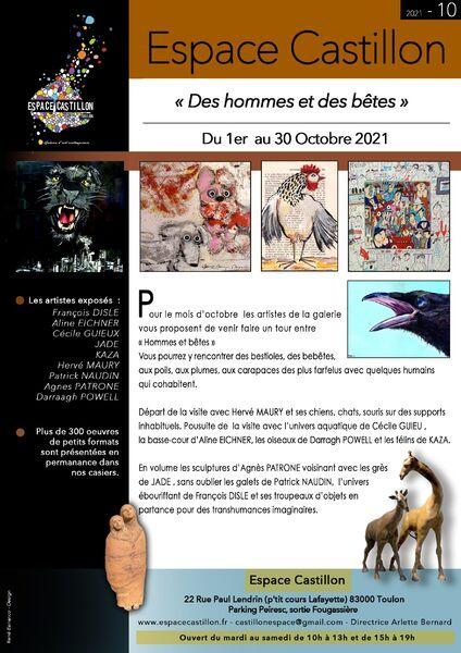 Artistes à découvrir – Espace Castillon « Des hommes et des bêtes » à Toulon - 0