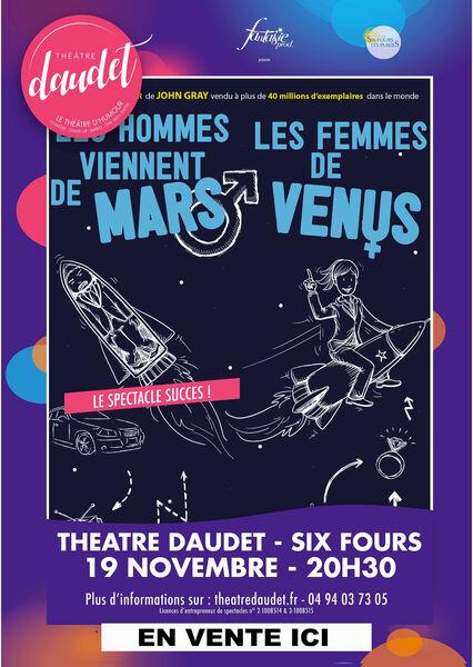 Spectacle «les Hommes viennent de Mars, les femmes de Vénus» à Six-Fours-les-Plages - 0