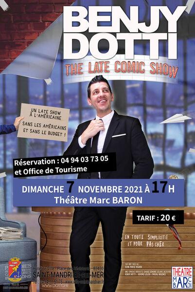 Spectacle «The Comic late show» de Benjy Dotti à Saint-Mandrier-sur-Mer - 0
