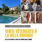 Vente privée de vêtements Villa Brignac