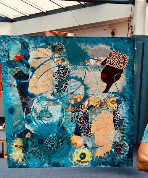 Exposition art abstrait, DAGOU à Hyères - 3