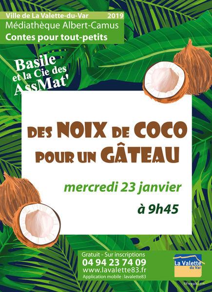 Jeune public – Contes pour tout-petits – Des nois de coco pour un gâteau à La Valette-du-Var - 0