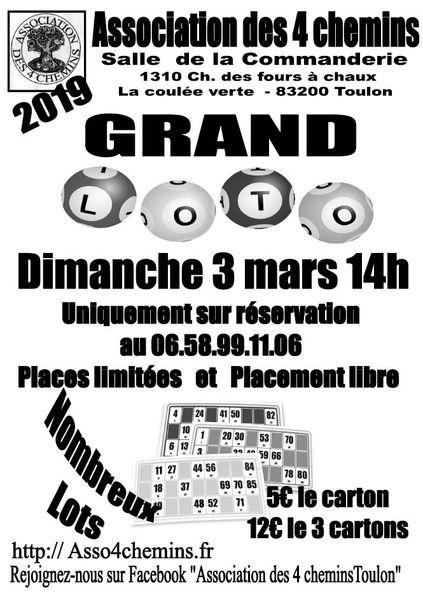 Grand loto de l'Association des 4 chemins à Toulon - 0