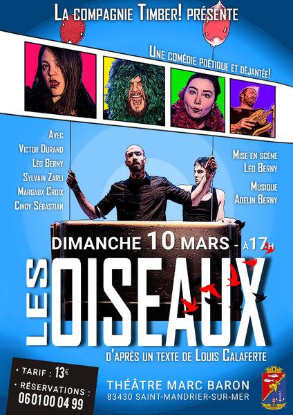 Théâtre «Les Oiseaux» par la Cie Timber à Saint-Mandrier-sur-Mer - 0