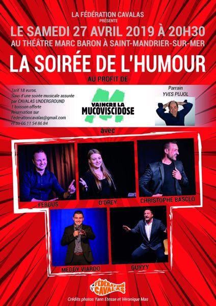 Soirée de l'humour au profit de «Vaincre la mucoviscidose» à Saint-Mandrier-sur-Mer - 0