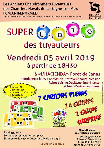 Super loto des tuyauteurs à l'Hacienda à La Seyne-sur-Mer - 0