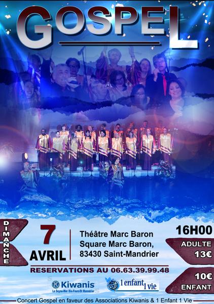 Concert gospel par «The Hope's Gospel Choir» à Saint-Mandrier-sur-Mer - 0