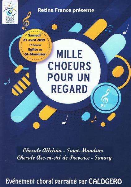 Concert «Mille choeurs pour un regard» de la chorale Alleluia à Saint-Mandrier-sur-Mer - 0