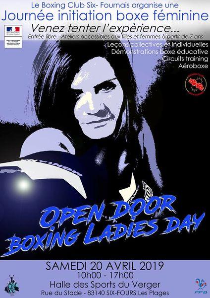 Journée initiation boxe féminine «Open door boxing ladies day» à Six-Fours-les-Plages - 0