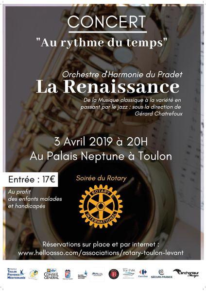 Concert – Rotary Toulon Levant avec La Renaissance « Au rythme du temps » à Toulon - 0