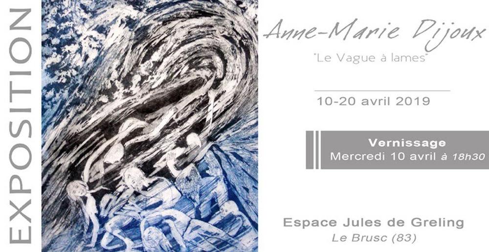 Exposition «Le vague à lames» de Anne-Marie Dijoux à Six-Fours-les-Plages - 0