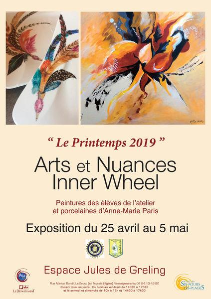 Exposition «Le printemps 2019» de Inner Wheel et Arts et Nuances à Six-Fours-les-Plages - 0