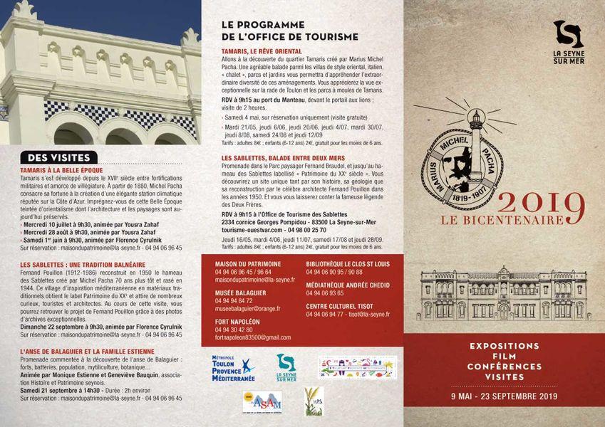 Bicentenaire Michel Pacha : conférence «Femmes en villégiature à Tamaris» à La Seyne-sur-Mer - 1