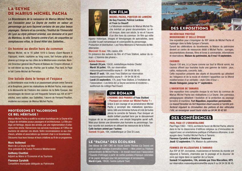 Bicentenaire Michel Pacha : conférence «Femmes en villégiature à Tamaris» à La Seyne-sur-Mer - 2