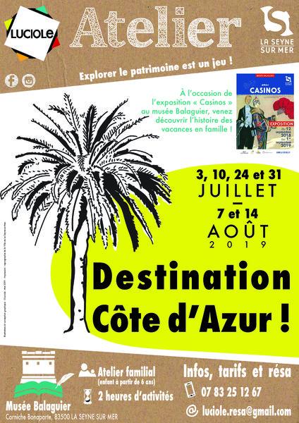 Atelier «Destination Côte d'Azur !» par l'association Luciole (à partir de 6 ans) à La Seyne-sur-Mer - 0