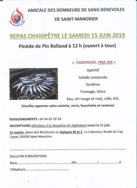 Repas champêtre à Saint-Mandrier-sur-Mer - 1