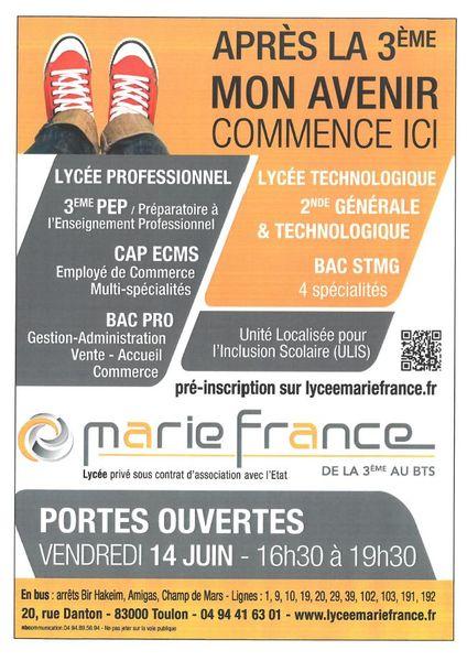 Portes ouvertes du lycée Marie France à Toulon - 0