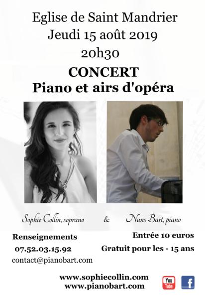 Concert de musique classique piano et chant lyrique par le pianiste Nans Bart et la soprano Sophie Collin à Saint-Mandrier-sur-Mer - 0