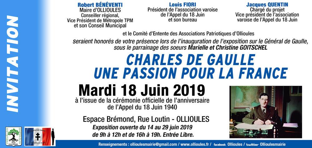 Exposition «Charles de Gaulle, une passion pour la France» à Ollioules - 0