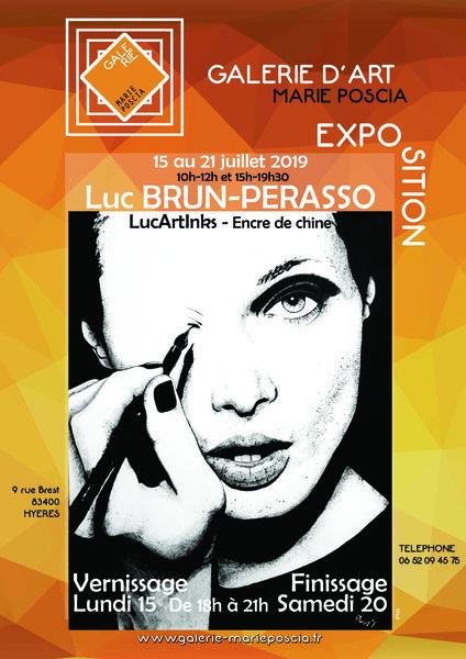 Exposition Luc Brun-Perasso LucArtInks à Hyères - 1