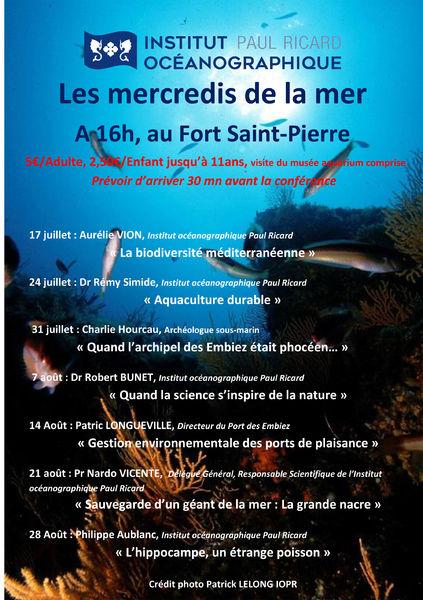 Les mercredis de la mer : conférence «La biodiversité méditerranéenne» à Six-Fours-les-Plages - 0