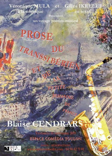 Théâtre – Prose du Transsibérien et de la petite Jehanne de France à Toulon - 0