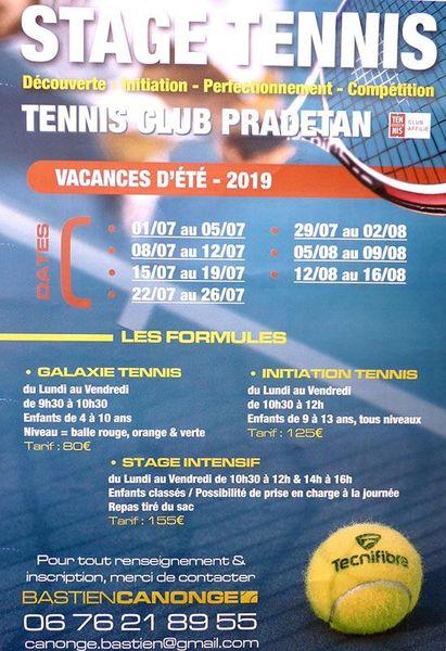 Stage Tennis  2019 à Le Pradet - 0