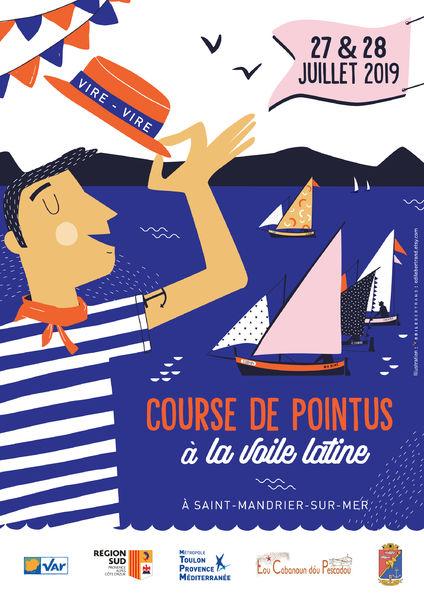 Vire-vire : course de pointus à la voile latine à Saint-Mandrier-sur-Mer - 0