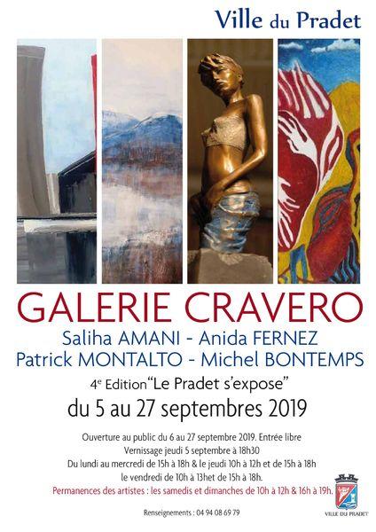 Exposition collective avec Patrick MONTALTO, Anida FERNEZ, Saliha AMANI et Michel BONTEMPS à Le Pradet - 0