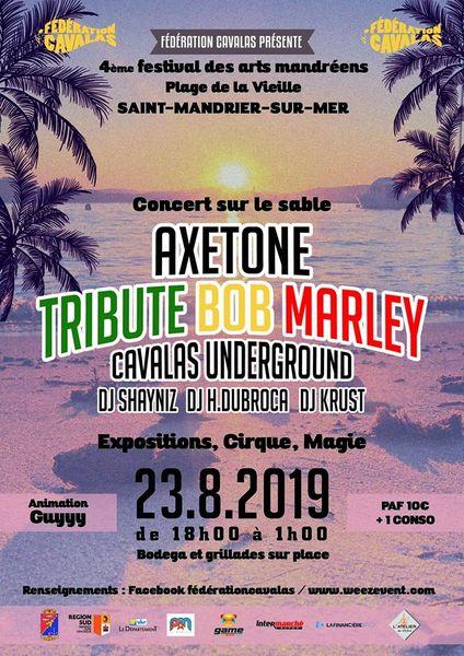 Concert Axetone «Tribute Bob Marley» + cirque et magie à Saint-Mandrier-sur-Mer - 0