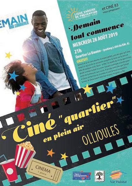 Ciné «quartier» en plein air : Demain tout commence à Ollioules - 0