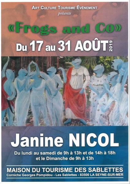 Exposition «Frogs and Co» de Jeanine Nicol à La Seyne-sur-Mer - 0