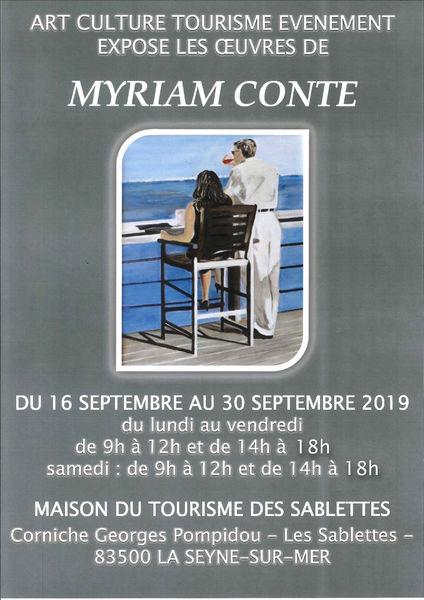 Exposition de peintures de Myriam Conte à La Seyne-sur-Mer - 0