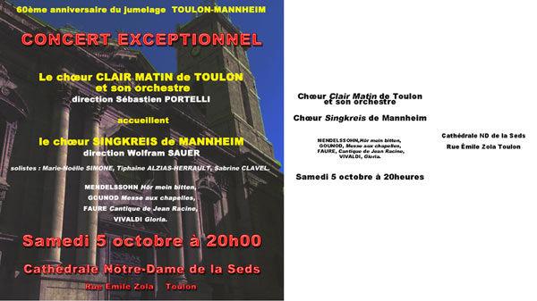 Concert – 60e anniversaire du jumelage entre Toulon et Mannheim à Toulon - 1