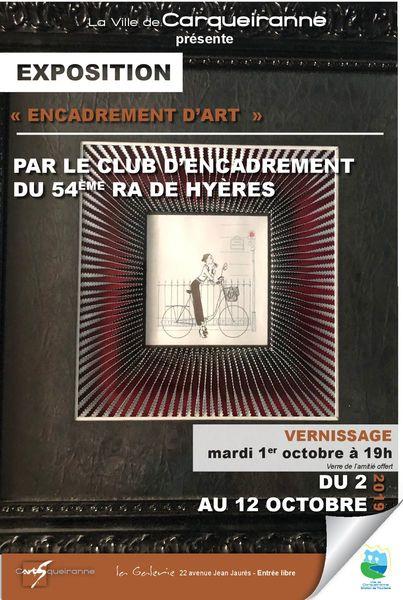 Exposition C'ARTS'QUEIRANNE – La Galerie – «Encadrement d'Art» à Carqueiranne - 0