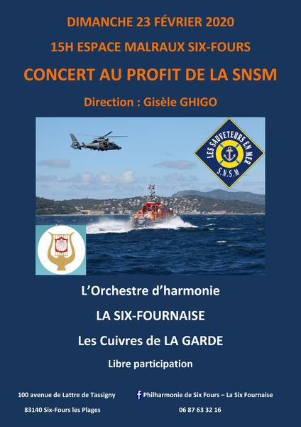 Concert au profit de la SNSM à Six-Fours-les-Plages - 0